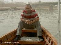 Emad M. Ghanim in Bagdad, kurz nach dem Sturz Saddam Husseins; Foto: Emad M. Ghanim