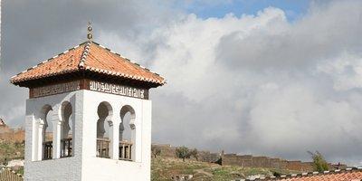 Minarett der neuen Moschee in Granada; Foto: Troy Nahumko