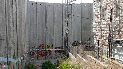 Israelische Sperranlage im Westjordanland; Foto: DW