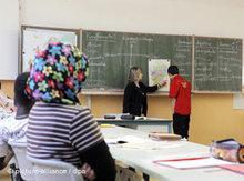Schüler mit Migrantionshintergrund in einer Leipziger Schule; Foto: AP