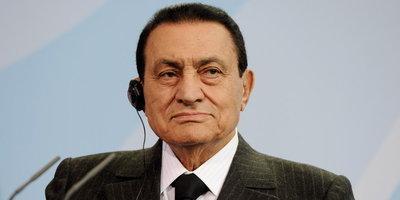 Ägyptischer Staatspräsident Husni Mubarak; Foto: dpa