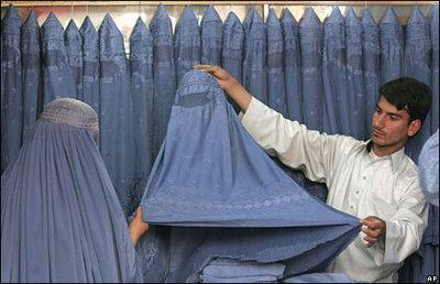 Burka-Manufaktur; Foto: AP