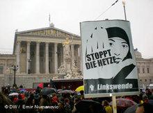 Demonstration gegen Rassismus und Islamfeindlichkeit in Wien; Foto: DW
