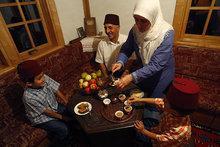 Eine muslimische Familie; Foto: AP