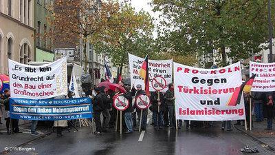 Islamfeindliche Demonstration von Pro Köln; Foto: DW
