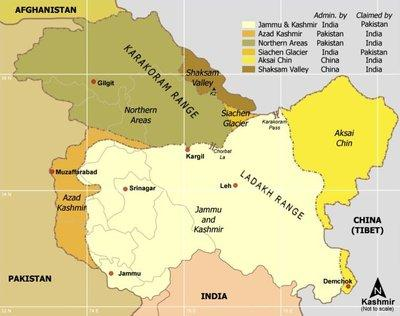 Kaschmir-Karte; Foto: Wikimedia Commons