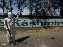 Maskierter kaschmirischer Demonstrant; Foto: AP