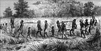 Afrikanische Sklaven, historische Illustration; Quelle: Leibniz Universität Hannover
