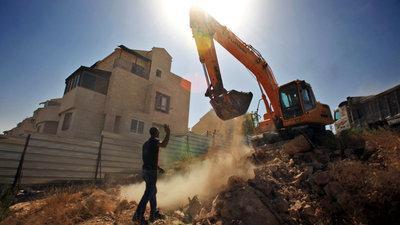 Bagger im Westjordanland; Foto: dpa