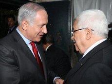 Israelischer Ministerpräsident Benjamin Netanjahu (l.) und Palästinenserpräsident Mahmud Abbas; Foto: dpa