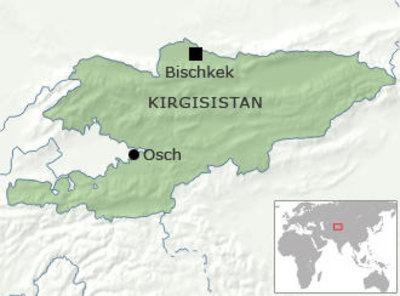 Karte von Kirgistan; Quelle: DW