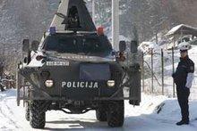 Polizeirazzia in Gornja Maoca; Foto: AP