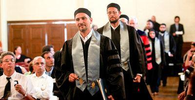 Dr. Hatem Bazian und Imam Zaid Shakir; Foto: Christina Hernandez