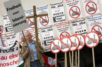 Anti-Islam-Kongress in Köln, Foto: dpa