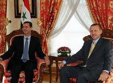 Syrischer Präsident Assad und türkischer Premierminister Erdogan in Istanbul; Foto: AP/Bülent Kilic
