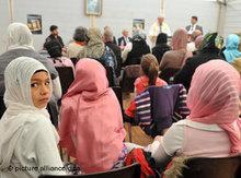 Tag der Offenen Moschee in der Zelt-Moschee in Köln-Ehrenfeld; Foto: dpa