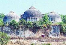 Babri-Moschee vor der Zerstörung; Foto: AP