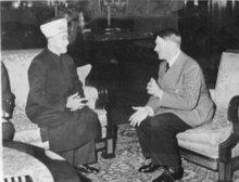 Adolf Hitler und der Großmufti von Jerusalem; Foto: dpa