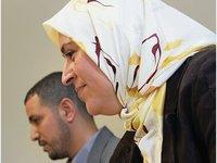 Seelsorgerin Jamila Taqbi und Imam Hassini der Omar-Moschee in Frankfurt/Main, Foto: dpa