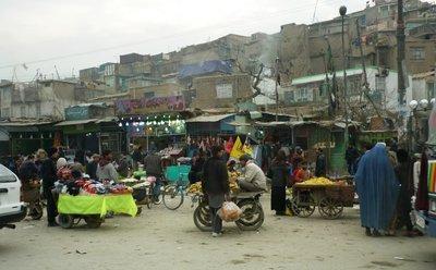 Straßenszene in der Altstadt von Kabul; Foto: Shikiba Babori