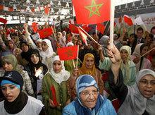 Anhängerinnen der PJD, 2007: Foto: AP