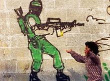 Hamas-Graffiti in Gaza; Foto: AP