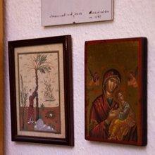 Eine arabische Miniatur und eine christliche Ikone; Foto: Iris Wolf