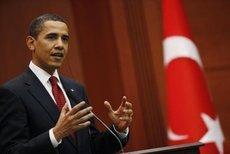 US-Präsident Barack Obama vor dem türkischen Parlament im April 2009; Foto: AP
