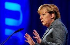 Kanzlerin Merkel auf einer Tagung der Jungen Union; Foto: dpa