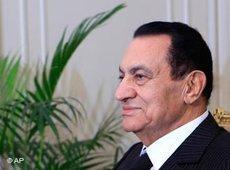 Ägyptens Präsident Hosni Mubarak; Foto: AP