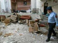 Tatort nach dem Selbstmordattentat in Casablanca; Foto: AP