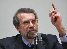 Irans Parlamentspräsident Ali Laridschani; Foto: AP
