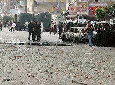 Ausschreitungen zwischen Christen und Muslimen in Alexandria; Foto: AP