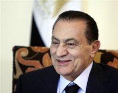 Ägyptens Präsident Mubarak; Foto. AP