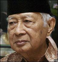 Der frühere indonesische Präsident Suharto; Foto: AP