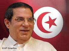Tunesiens Präsident Ben Ali; Foto: AP