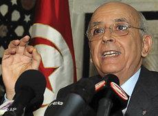 Tunesiens Ministerpräsident Mohammed Ghannouchi; Foto: AP