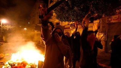 Jugendliche Demonstranten in Bab El-Oued; Foto: dpa