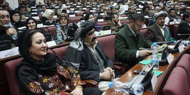 Sitzung des afghanischen Parlaments in Kabul; Foto: dpa