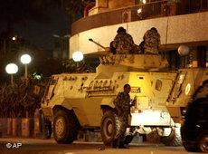 Panzer in der Innenstadt von Kairo; Foto: AP