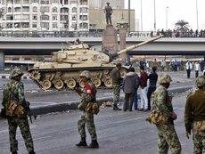 Armee in der Innenstadt von Kairo; Foto: AP