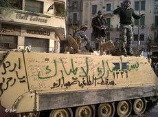 Panzer in der Innenstadt Kairos; Foto: AP