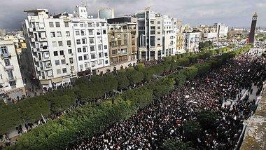 Demonstration gegen das Ben Ali-Regime, Foto: AP