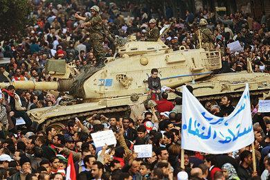 Proteste auf dem Kairoer Tahrir-Platz; Foto: dpa