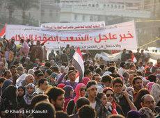 Demonstration auf dem Tahrir-Platz in Kairo; Foto: Khalid El Kaoutit