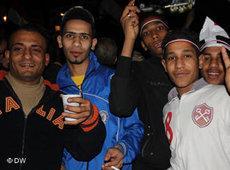Jugendliche Demonstranten nach dem Rücktritt Mubaraks am 11. Februar in Kairo; Foto: DW