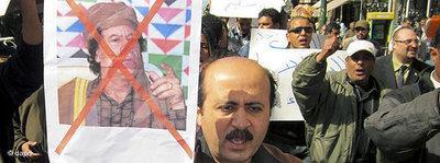Proteste gegen Gaddafi; Foto: dapd