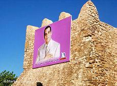 Zine el Abidine Ben Ali auf einem Plakat in Hammamet; Foto: DW