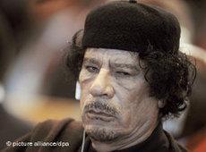 Libyens Revolutionsführer Gaddafi; Foto: dpa