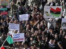 Protzeste gegen Gaddafi in der libyschen Hafenstadt Tobruk; Foto: dpad
